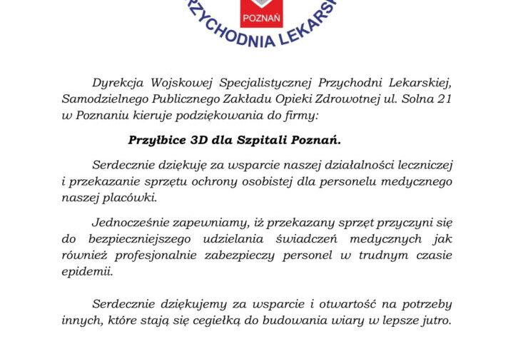 Podziekowanie Dyrekcja Wojskowej pa-1